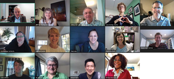 The Adolescent Subboard meets virtually with ABP staff