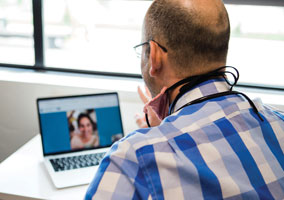 Like many pediatricians, Dr. Steve Smith of Meridian, ID, began offering telemedicine appointments